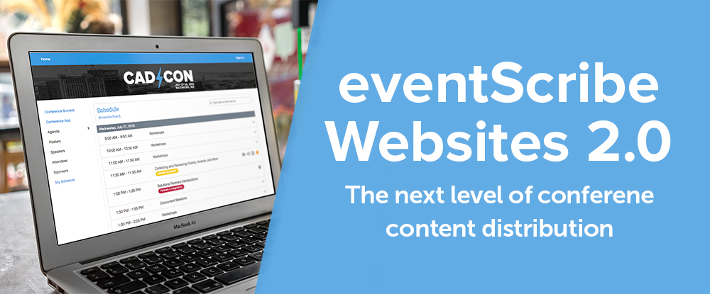 CadmiumCD has released an upgraded version of their popular attendee website platform, which is fully integrated into CadmiumCD