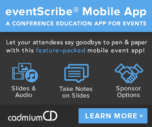 The eventScribe Mobile App is an easy way to share speaker and exhibitor information with attendees for your event or educational meetings. Attendees can download presentation slides, access the meeting agenda, and much more!