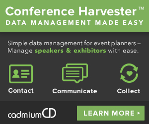 The Conference Harvester is an easy to use event management, speaker data collection, and exhibitor booth purchasing tool made for event planners, conference organizers, and trade show floor managers.