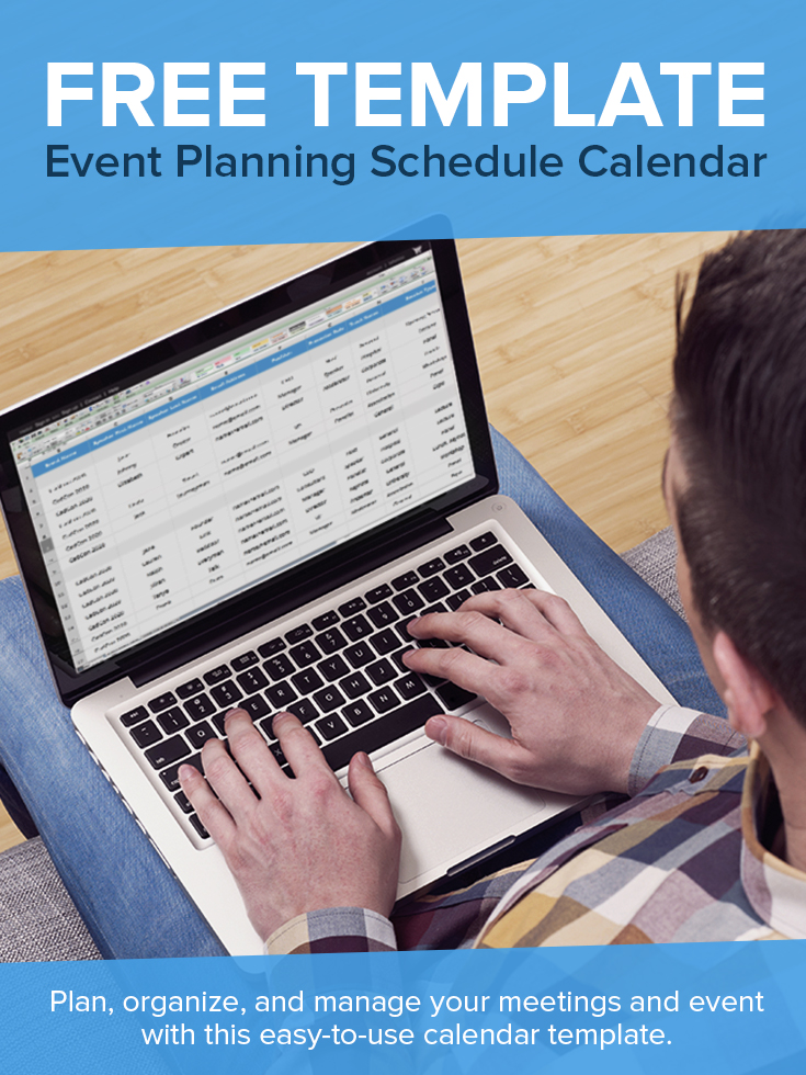 Keep your sessions, speakers, and rooms organized with this spreadsheet calendar template for meeting planners and event managers.