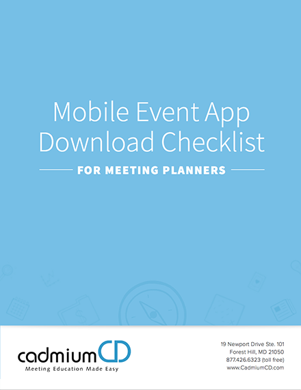 Event App Checklists for Meeting Planners and Attendees