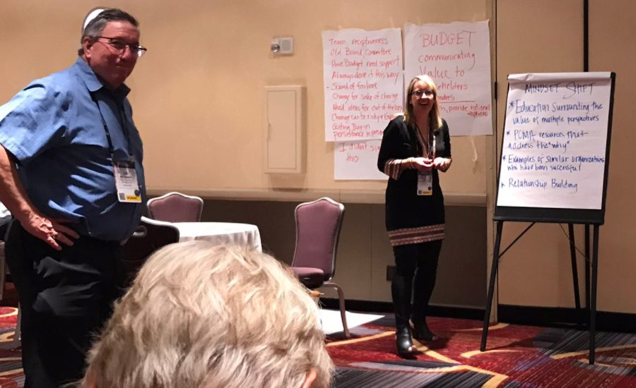 Joe Felperin and Eva Montgomery lead a crowd sourced session at PCMA Education Conference 2017.