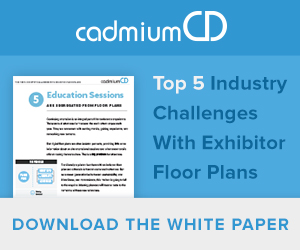 Tradtional floor plans have a lot of issues. Furthermore, many online floor plan software companies fail to update their floor plans and data management systems. Read this white paper to find out the top 5 industry challenges with expo floor plans and learn about CadmiumCD's solution.