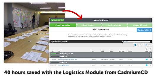 Conference Logistics Automation Software for Meeting